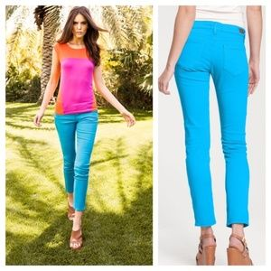 Paige Skyline ankle peg jeans in bright blue